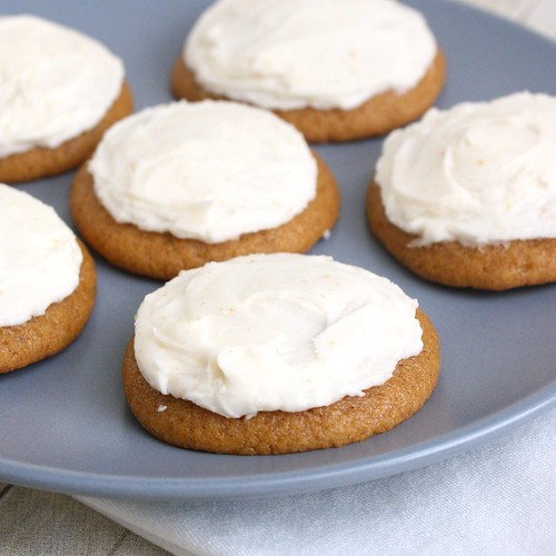 Pumpkin Cookies with Brown-Butter Icing