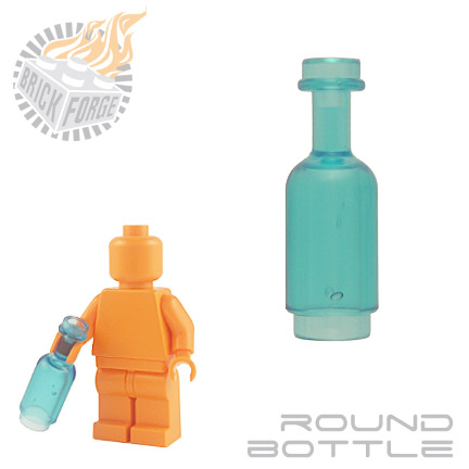 Round Bottle - Trans Light Blue
