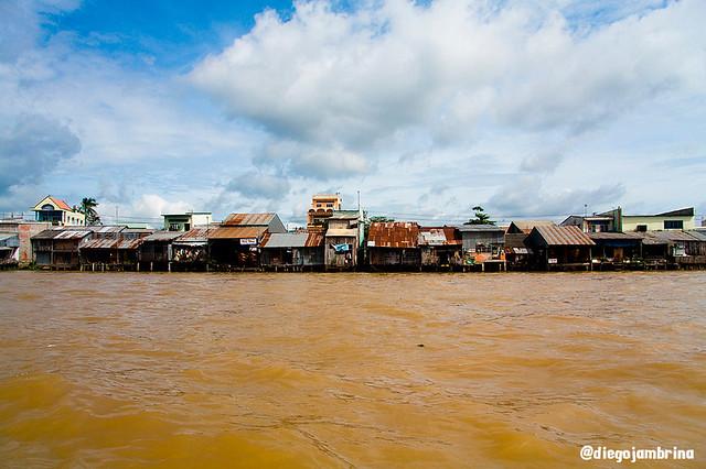 Casas con vistas al Mekong, Vietnam