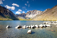 Convict Lake (Extra Medium) Tags: morning clouds rocks fallcolor wideangle alpinelake sierranevadas clearwater convictlake i395 lee6gndhard