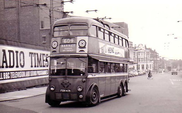 London, Barnet, Double Decker Bus 1950's