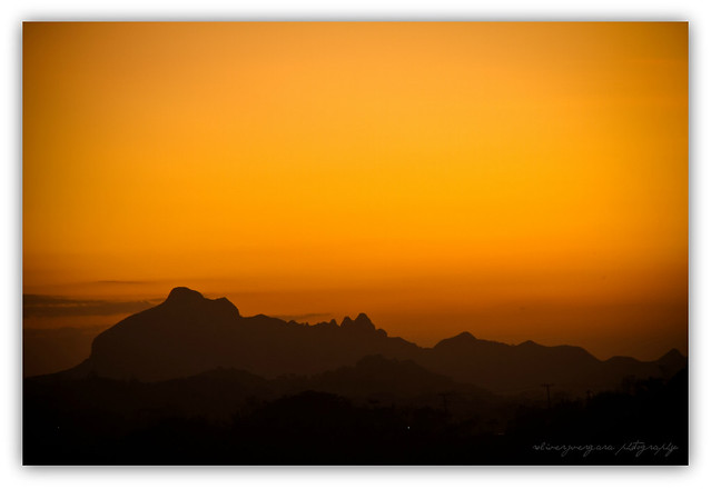 Orange twilight over Mt. Batulao