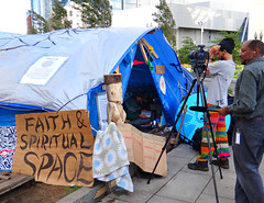 Faith & Spiritual Space (Colorado Sands) Tags: camera camp usa signs sign boston america us tents movement message unitedstates space massachusetts faith political politics protest photojournalism newengland historic solidarity 99 american signage housing change historical discussion activism spiritual temporary activists protesters campsite debate demonstrators freespeech eastcoast encampment reform demonstrate campers powertothepeople specialinterests occupy antiestablishment occupiers deweysquare sandraleidholdt americancities globalchange economicinequality leidholdt occupyboston