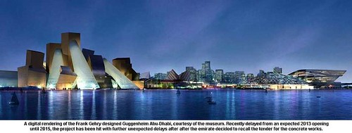 A digital rendering of the Frank Gehry designed Guggenheim Abu-Dhabi by artimageslibrary