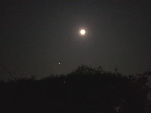 月と木星(2011/10/12 20:15)