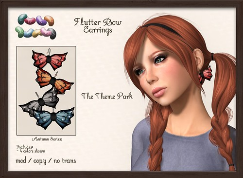 ::CB:: Flutter Bow Earrings - The Theme Park