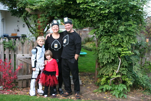 king & queen of hearts, clone trooper, and ladybug fairy