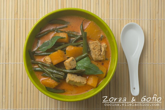 Pumpkin and Tofu Red Curry