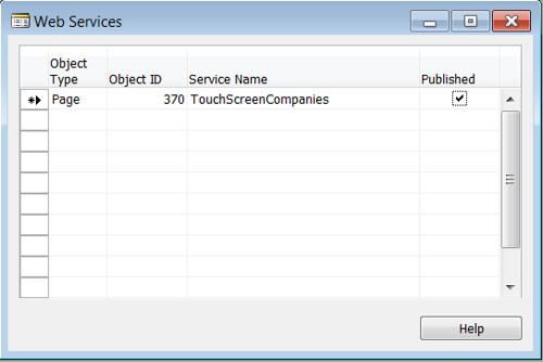 Publish Web Services