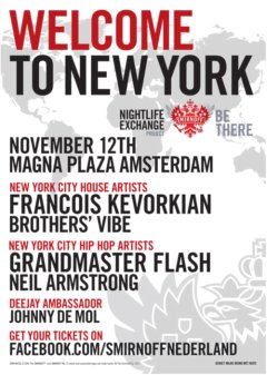 11/12 – Sat – DJ NA AND the LEGENDARY GrandMaster Flash for Smirnoff's Nightlife Exchange