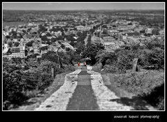 View from the mountain (Anwar Kapasi) Tags: city mountain nikon shift tilt pilgrimage gujarat 18105 tiltshift palitana d90 nikond90 viewfromthemountain akapasi