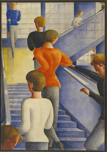 Oskar Schlemmer - Bauhaus Stairway [1932] by Gandalf's Gallery