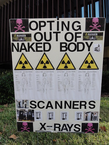 """Opting out of naked body scanners X-rays"""