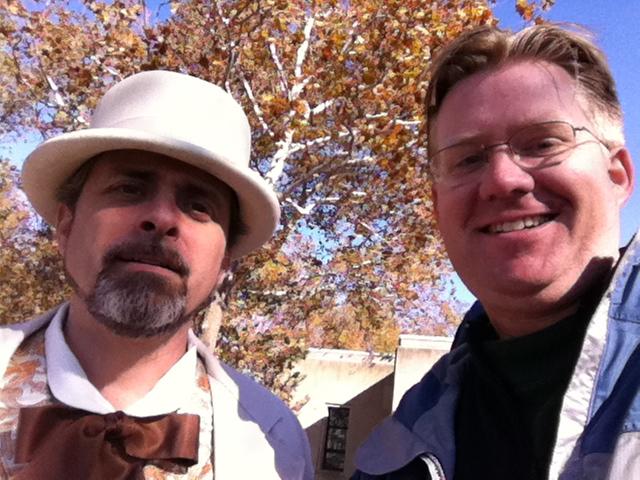 Frederic-Auguste Bartholdi (Glenn Stoop) and Wesley Fryer