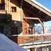balcon et facade chalet courchevel