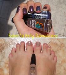 Hoje estou Fast Fashion! (Roberta Kelly Damasceno) Tags: vermelho nails impala risque unha esmalte gliter topbeauty ultimate3d expressionofnight ouronude violetaacinzentado
