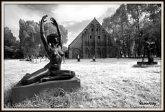 Belgio , ( Belgium , Lissewege  ) (maurorobi66) Tags: travel bw white black statue europa belgium belgian holliday flanders belgio belgische lissewege