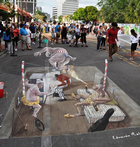 Day 6 at the Chalk Festival in Sarasota, Fla., Nov. 6, 2011, by Edvardor Relero