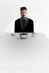 www.joshnece.com (Josh Nece) Tags: gay white male hair beard table salad perfect tie josh perfection nece