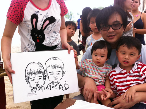 caricature live sketching for LGT Family Day - 4