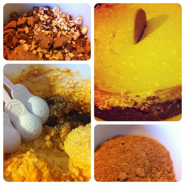 ... ginger snap and hazelnut crust. Not shown: chocolate bourbon sauce
