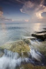 Stand Still (Azer Naudzer a.k.a PokYa) Tags: beach rock sunrise slowshutter tokbali