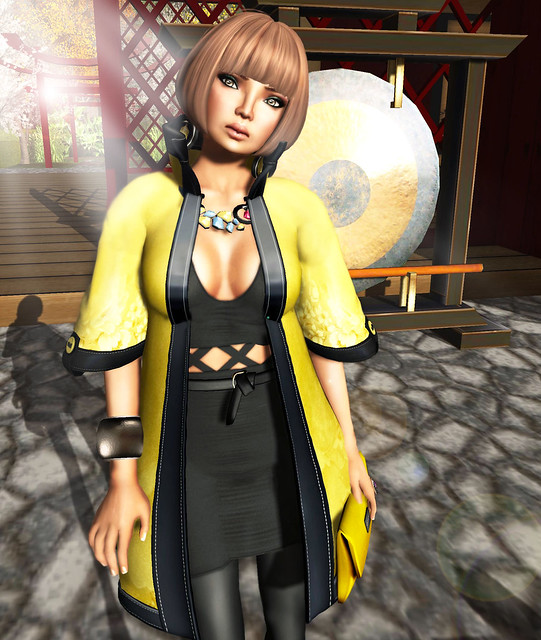 The Secret Store - Kimono Coat - Bamboo (close)