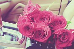 (- M7D . S h R a T y) Tags: flowers red flower color car porsche bouquet goodmorning bouquetofflowers in wordsbyme allrightsreserved