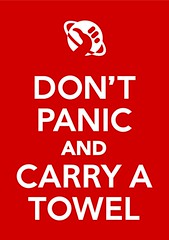 dont panic and carry a towel