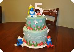 Smurf cake (Kakes by Kristy) Tags: birthday cake smurf smurfs smurfette kidsbirthday smurfcake girlsbirthdaycake