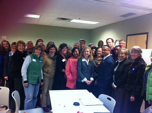 DNC Chair Debbie Wasserman Schultz with OFA-MN volunteers