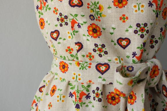 folk dress close up
