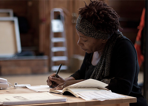 Bonnie Greer in rehearsals for YES  © Ruairi Watson /ROH 2011