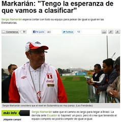 depor.pe clasifitaroias (chuky160) Tags: brasil de la notas prensa digitales peruana 2014 clasificatorias