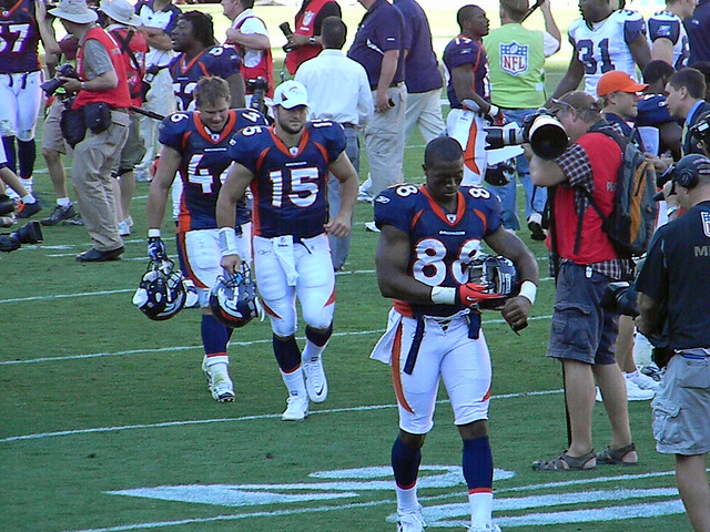 Spencer Larson, Tim Tebow, and DEMARYIUS THOMAS