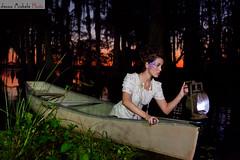 Swamp Shoot in Orlando (Jenna Michele Photography) Tags: fashion moss lace swamp lantern whitedress
