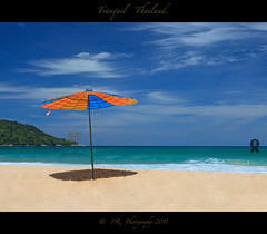Another day another umbrella. (Pete 5D......) Tags: ocean blue sea sky colour beach umbrella thailand one 1 asia alone imac quiet vibrant horizon single remote kata phuket idyllic tranquil isolated andaman wop katanoi canon5dmarkii doubleniceshot mygearandme mygearandmepremium mygearandmebronze mygearandmesilver mygearandmegold mygearandmeplatinum mygearandmediamond photographyforrecreationclassic