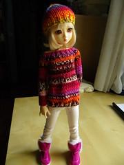 Sam (KnittedShiky) Tags: sweater doll slim handmade knit clothes jumper bjd cardigan msd elfdoll knittedshiky lovelydami