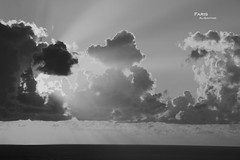 Where imagination truly exists (Fares Al-876ANI) Tags: light sky blackandwhite bw sun white black clouds blackwhite sunrays lightrays