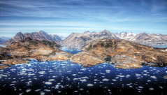 east greenland summer landscape