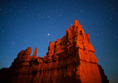 "Jupiter over 'The Fortress' - Bryce Canyon (IronRodArt - Royce Bair (""Star Shooter"")) Tags: park nightscape canyon national bryce jupiter brycecanyon nightscapes brycecanyonnationalpark thefortress"