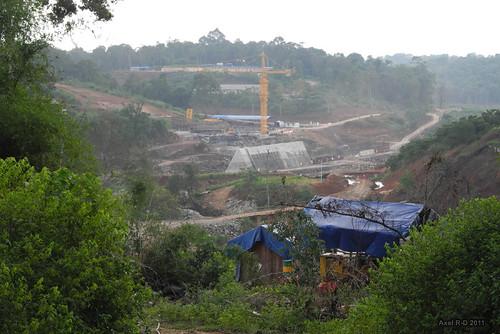 Dam under construction