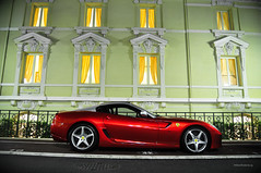 Ferrari SA Aperta (Willem Rodenburg) Tags: light red 3 green heritage wall by night photoshop dark lights hotel nikon nightshot wine very 33 bordeaux picasa fast ferrari montecarlo monaco special nightlife walls sa 1855 gt rare supercar willem lightroom aperta granturismo v12 d90 cs5 hypercar rodenburg