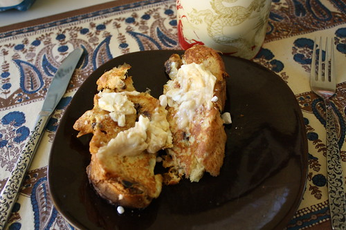 french toast using panettone