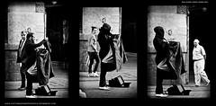 Y ahora... Con todos ustedes.... (vero prez) Tags: madrid street bw bar night teatro noche calle spain kiss theater artist marioneta puppet terrace romance mueco beso terraza artista misterio callejero ttere correquetepillo