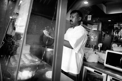 Prata man, Little India, Singapore