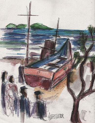 """The boat Vincent used while drifting down the Sumida with Mariko..."" by roberthuffstutter"