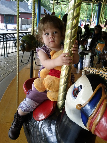 First Carousel Ride at the Zoo