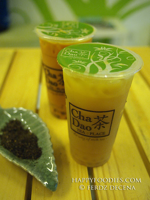 The Peach Mango and Cha yen Milk Teas