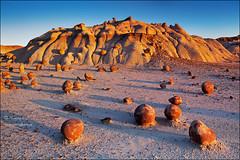 Outlandish Landscape (Yiming Hu) Tags: newmexico sunrise canon landscape rocks desert hoodoos southwestern bisti tiltshift bandland canon5dmarkii canontse24mmf35lii